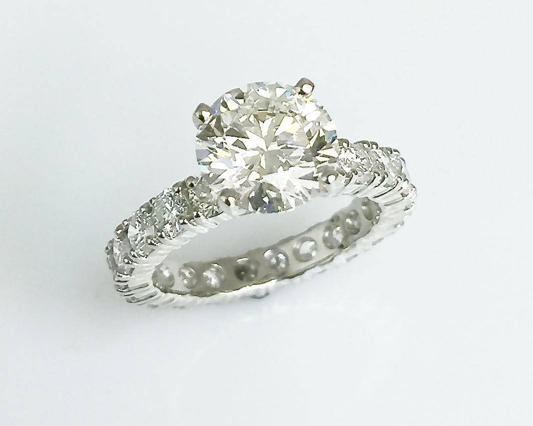 Matty Platinum Diamond Eternity Band Engagement Ring Pertaining To Eternity Band Wedding Rings (View 5 of 15)