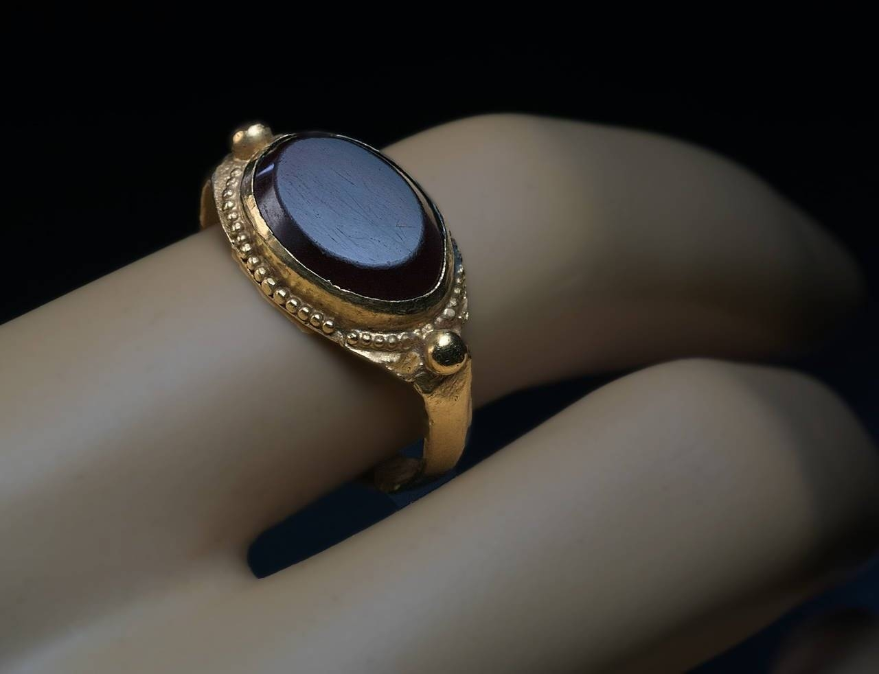 Medieval Byzantine Garnet Gold Men's Signet Ring For Sale At 1Stdibs For Medieval Engagement Rings (View 9 of 15)