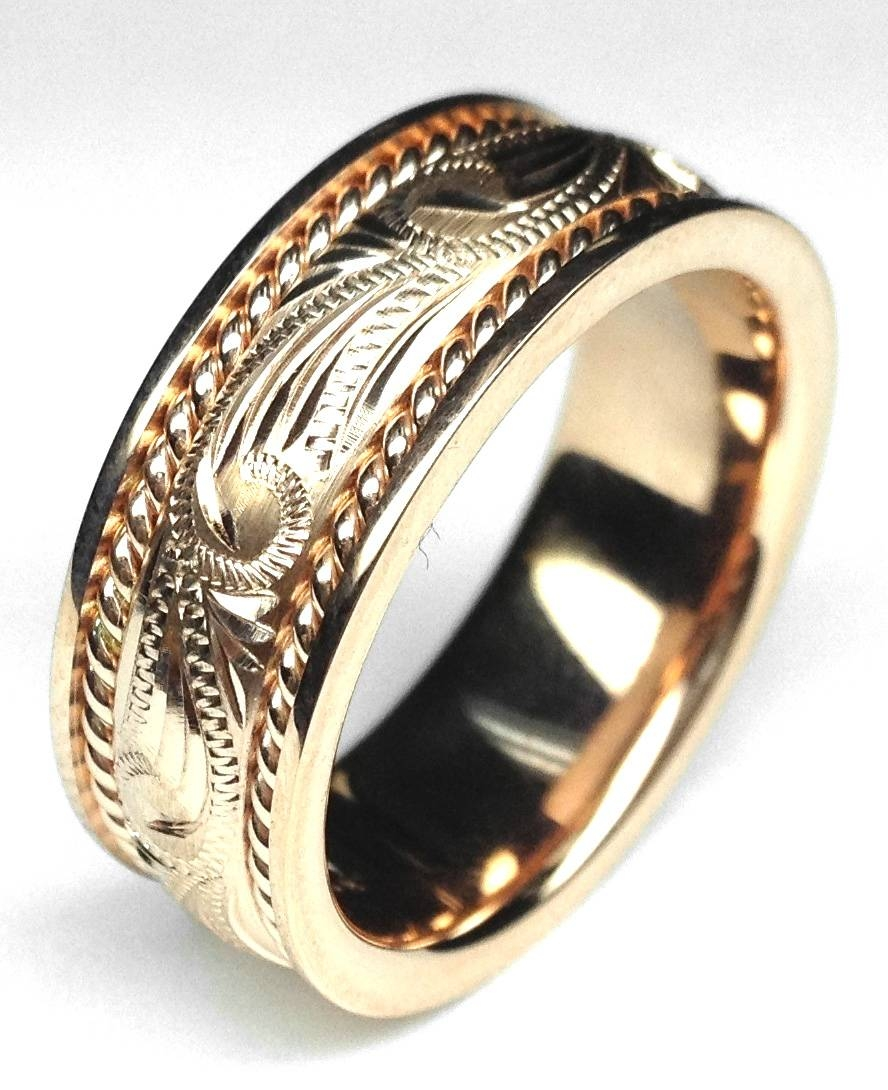 Men – Wedding Bands From Mdc Diamonds Pertaining To Engraving Mens Wedding Bands (View 7 of 15)
