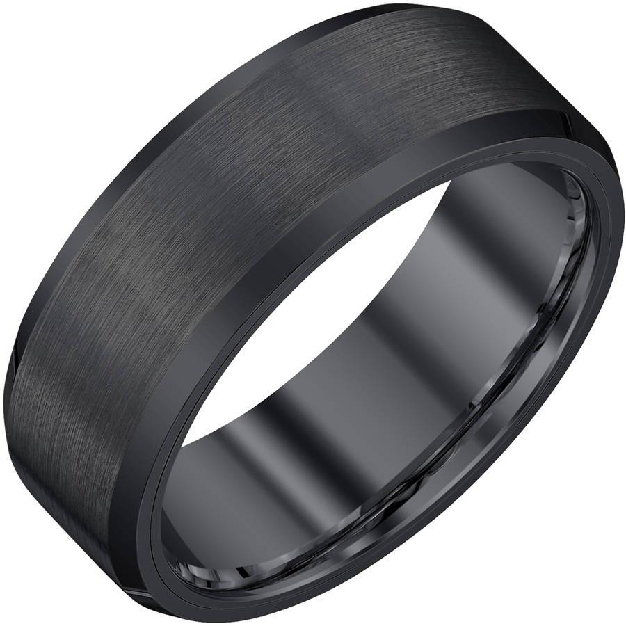 Men Wedding Bands – Walmart Intended For Hammered Tungsten Men's Wedding Bands (View 8 of 15)