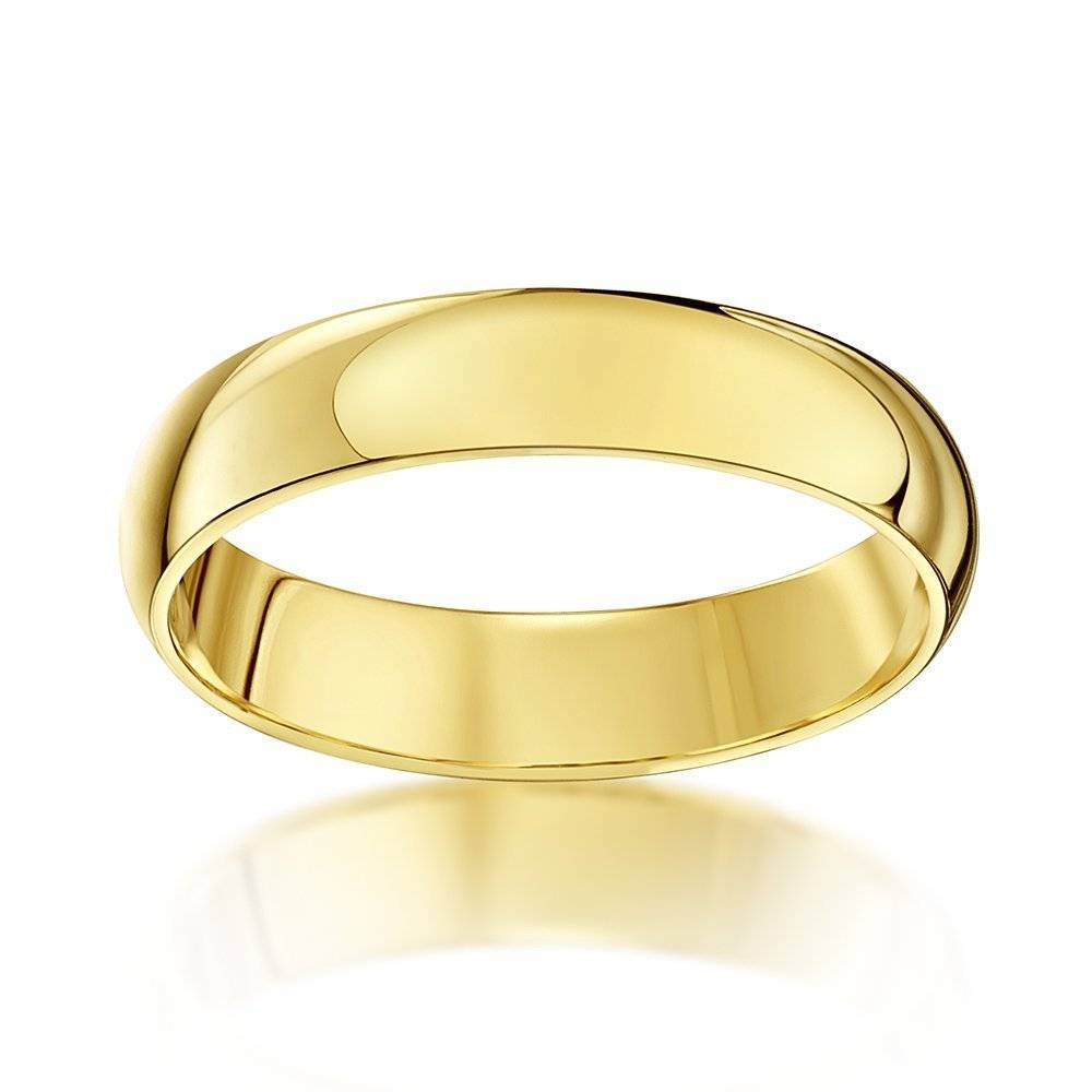 Men Women Wedding Ring Band Plain 4Mm With Wedding Rings Bands For Women (View 9 of 15)