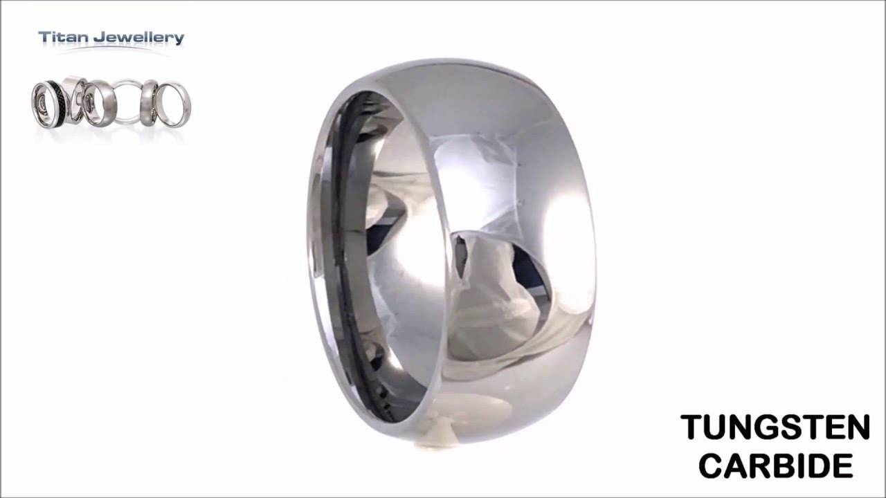 Mens 10Mm Wide Tungsten Carbide Wedding Ring – Youtube Intended For Mens 10Mm Tungsten Wedding Bands (View 8 of 15)
