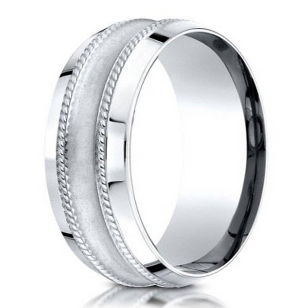 Men's 950 Platinum Designer Wedding Ring With Glass Finish,  (View 12 of 15)