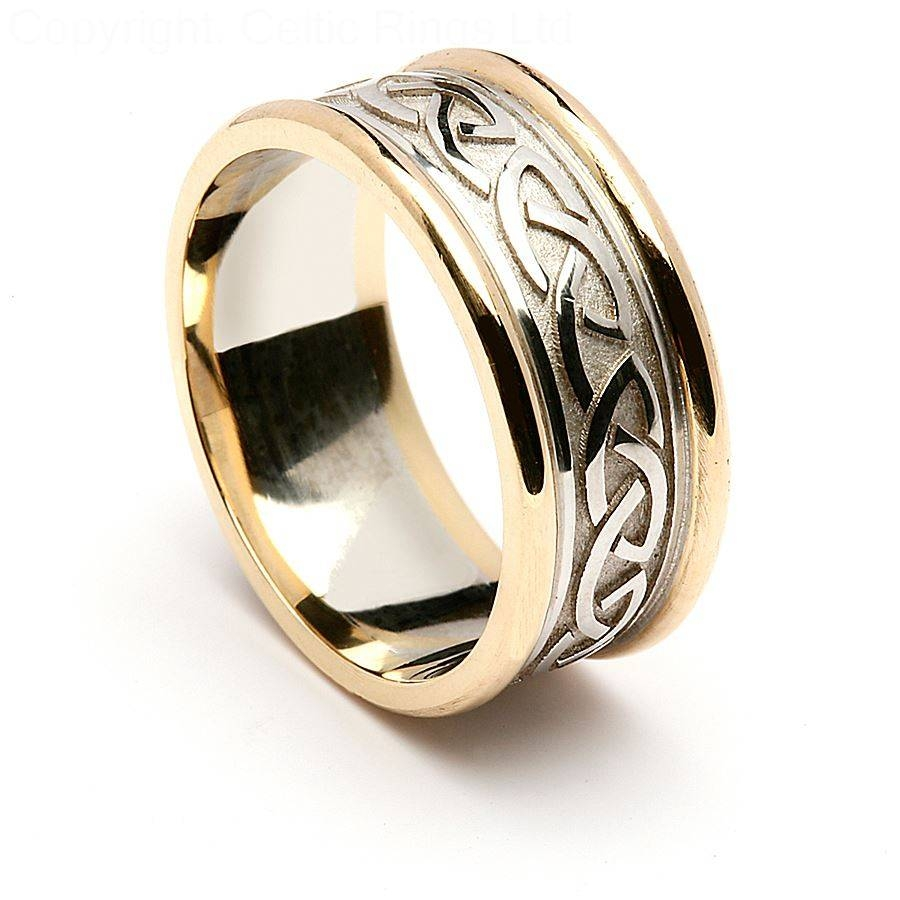 Mens Celtic Wedding Rings Bands – Mens Celtic Rings As Popular Pertaining To Celtic Engagement Rings For Men (View 10 of 15)