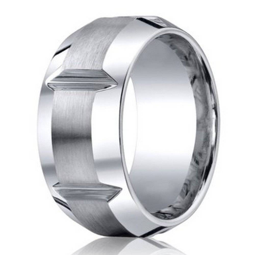 Men's Cobalt Chrome Wedding Ring From Benchmark | 10Mm Within 10Mm Men's Wedding Bands (View 10 of 15)