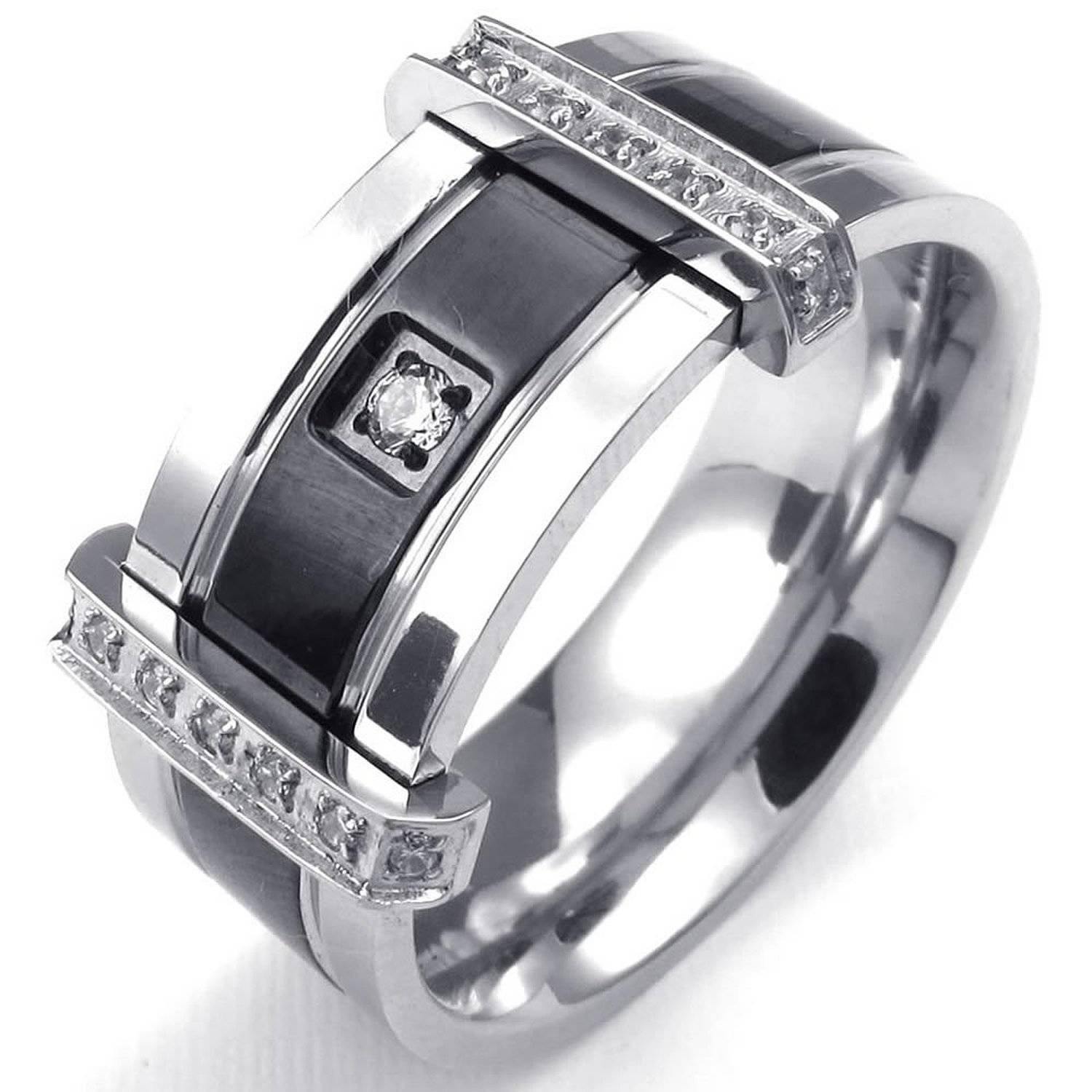 Mens Cubic Zirconia Diamond Rings | Wedding, Promise, Diamond Inside Men's Cubic Zirconia Wedding Bands (View 8 of 15)