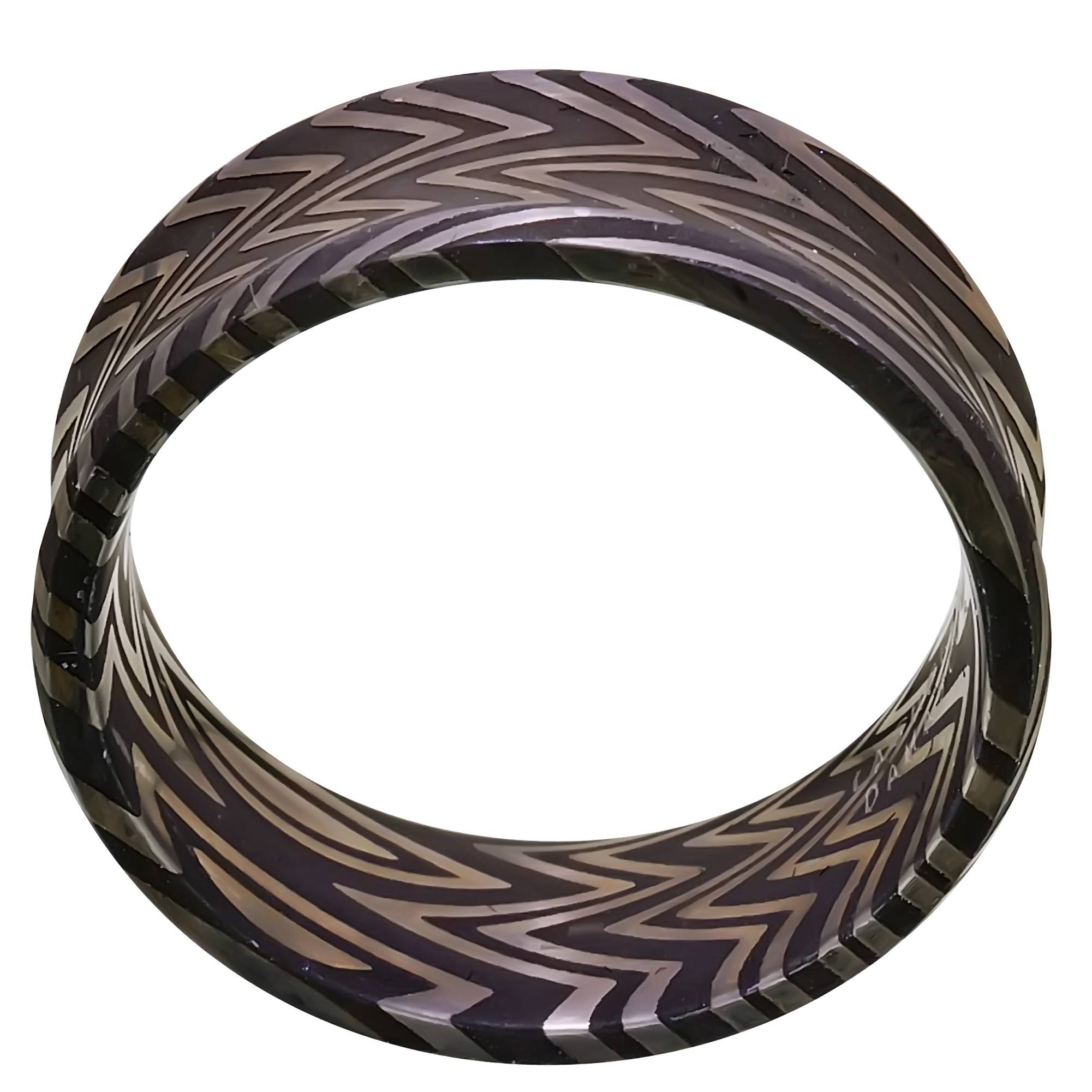 Mens Damascus Steel Zebra Wedding Band (8Mm) For Damascus Steel Men's Wedding Bands (View 10 of 15)