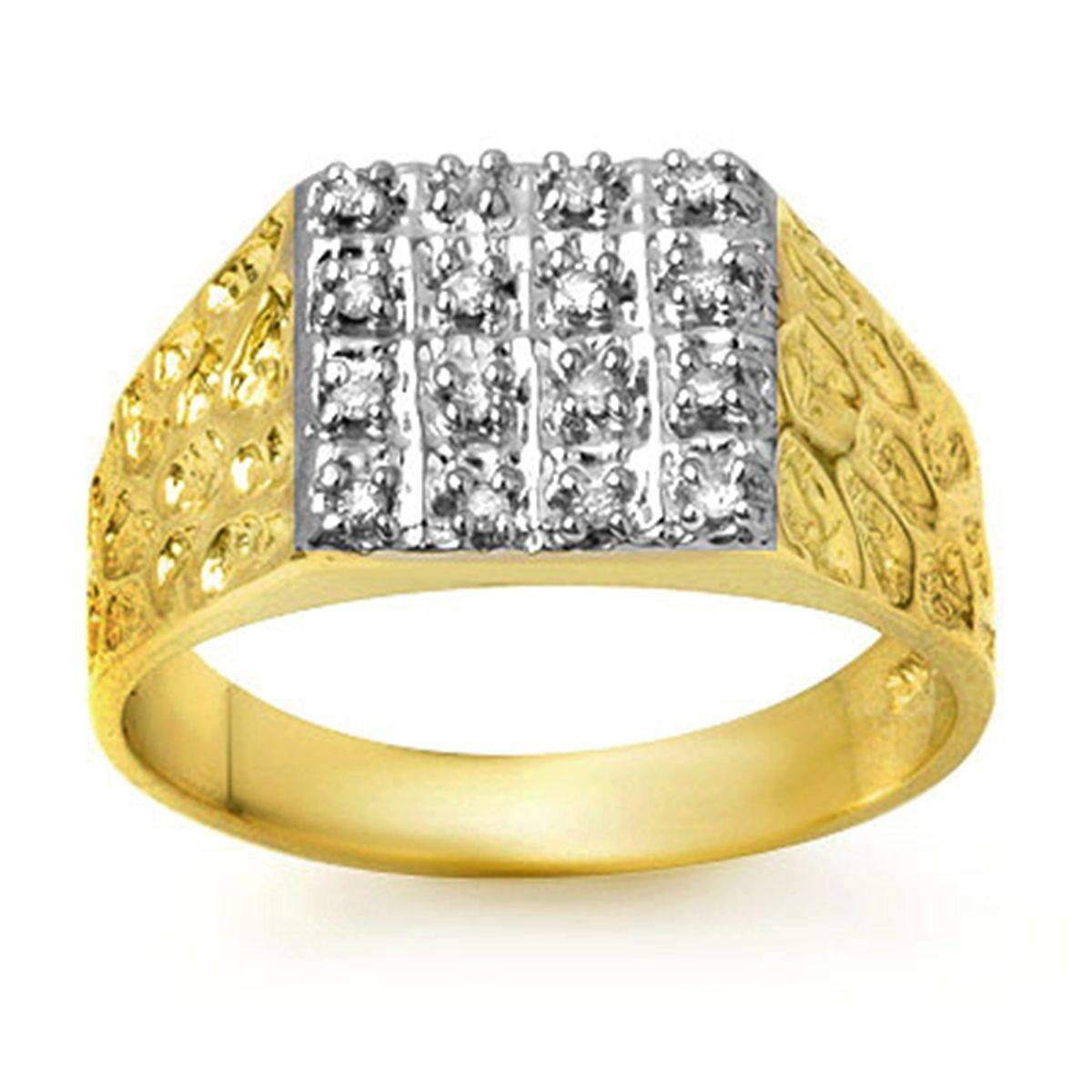 Mens Gold Diamond Rings | Wedding, Promise, Diamond, Engagement With Gold Diamond Wedding Rings For Men (View 11 of 15)