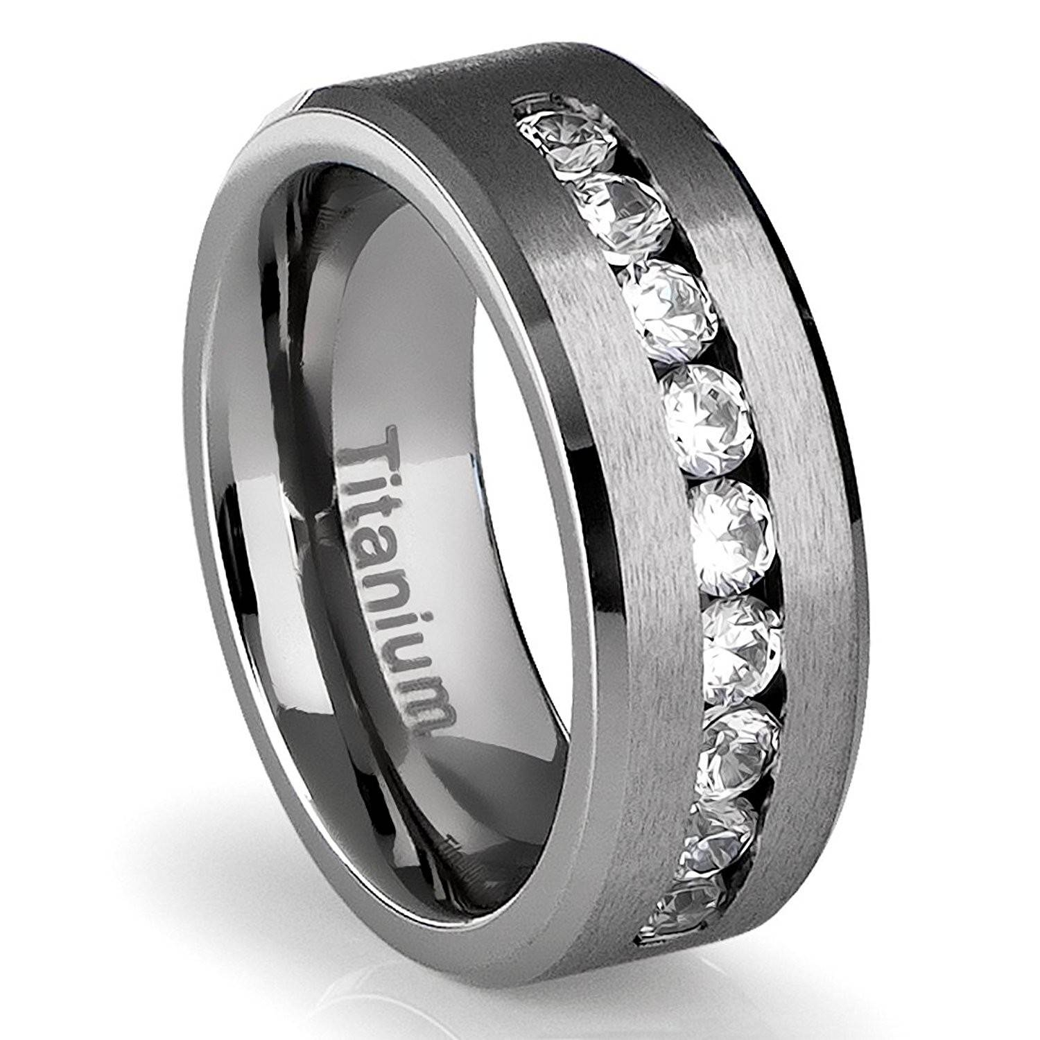 Photo Gallery of Titanium Lord Of The Rings Wedding Bands Viewing 8