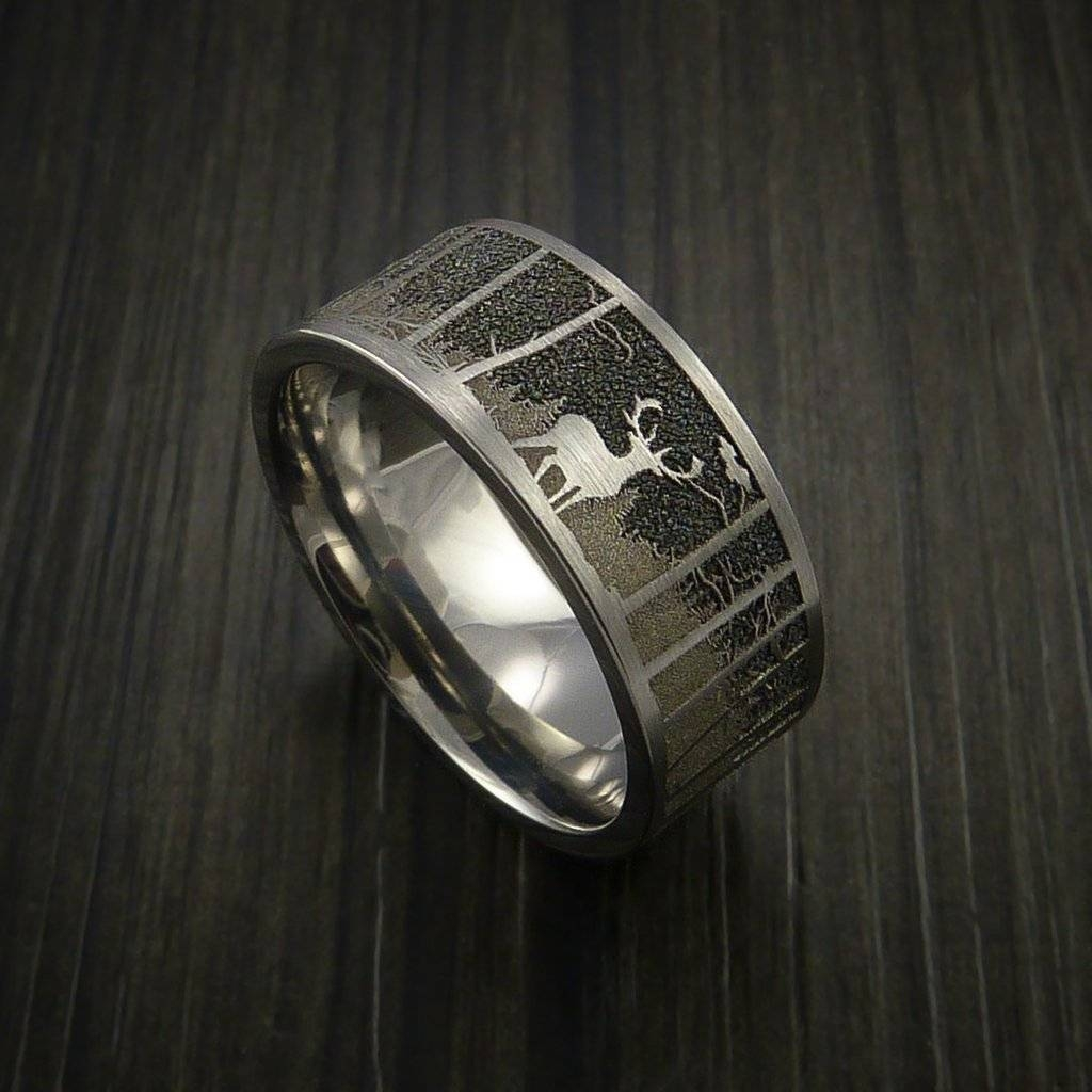 Mens Outdoor Wedding Rings | Wedding, Promise, Diamond, Engagement In Men's Hunting Wedding Bands (View 10 of 15)