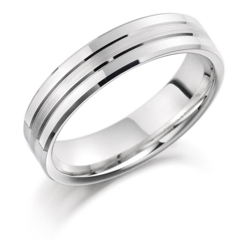 Mens Palladium 950 6Mm Brushed & Bevelled Wedding Ring With Regard To Mens Palladium Wedding Rings (View 8 of 15)