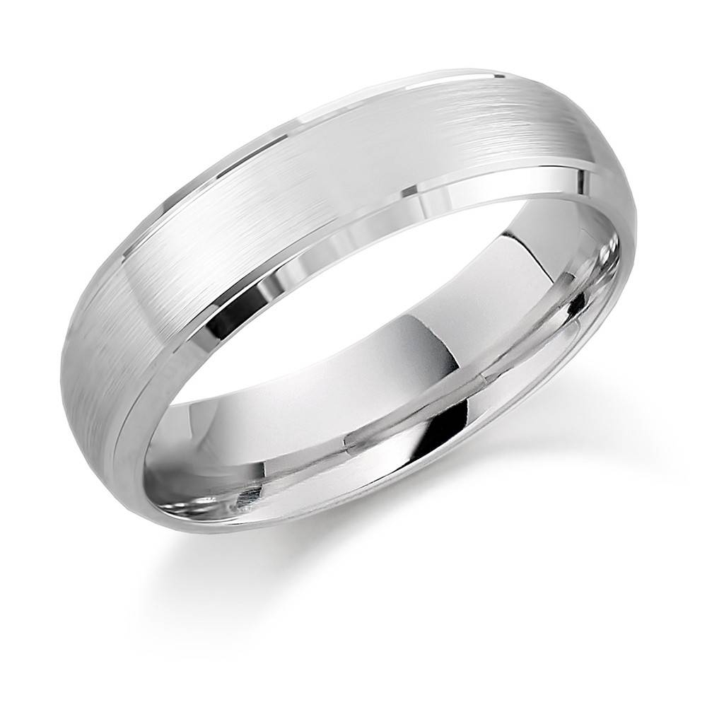 Mens Palladium Wedding Ring With Satin Centre And Bevelled Edge Inside Mens Palladium Wedding Rings (View 9 of 15)