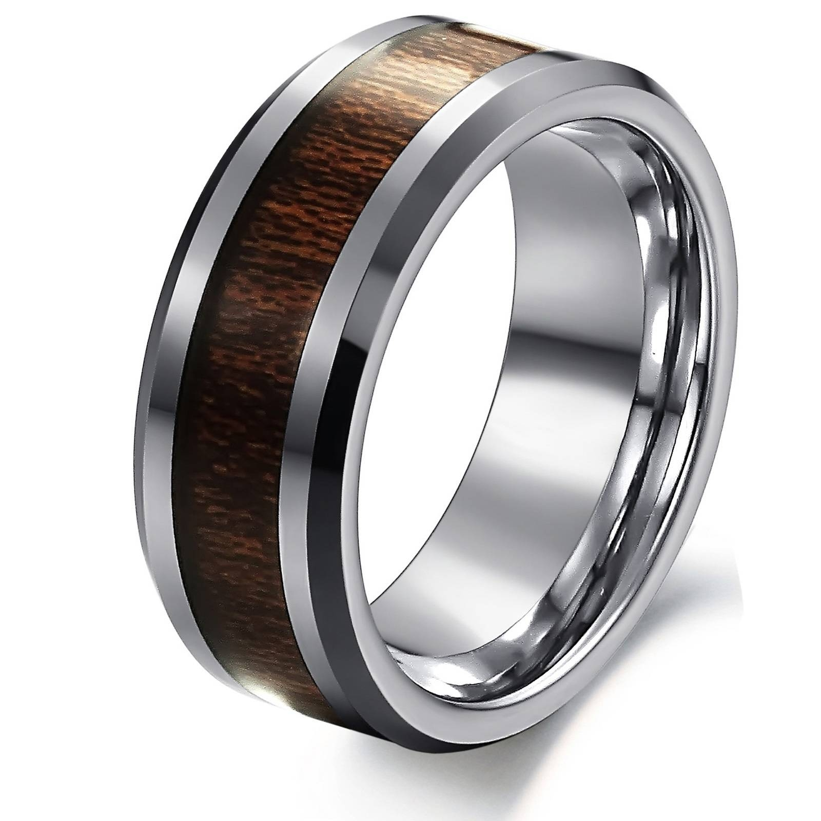 Men's Personalized Pure Tungsten Steel Wedding Band Ring 5936 At Regarding Steel Wedding Bands (View 8 of 15)