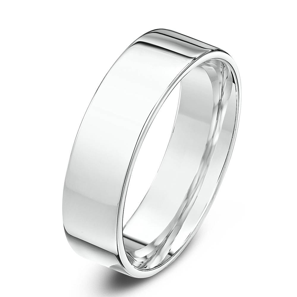 Mens Platinum 5Mm Flat Court Shape Wedding Ring 00024 – Newburysonline With Regard To Platinum Wedding Rings Mens (Gallery 12 of 15)
