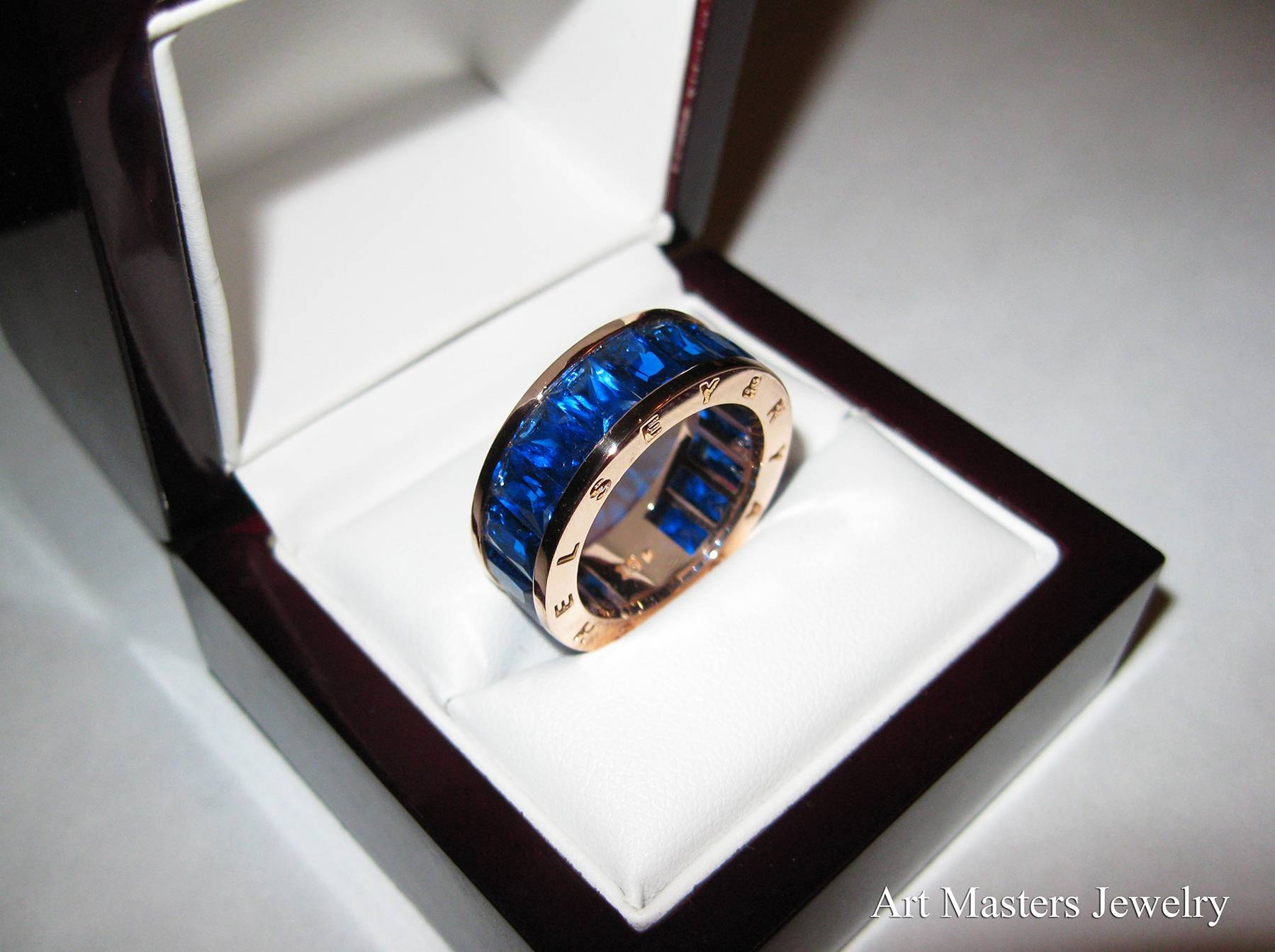 Photo Gallery of Blue Sapphire Mens Wedding Bands Viewing 15 of 15