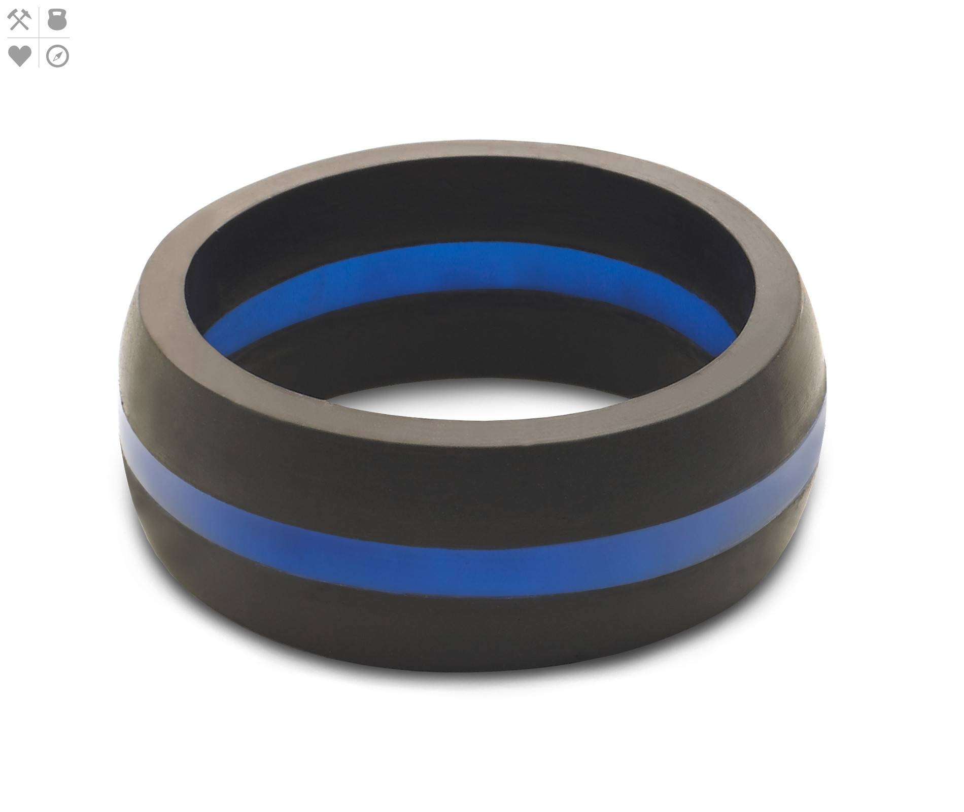 Men's Thin Blue Line Rings – Engagement Rings Jacksonville Florida Pertaining To Blue Line Wedding Bands (View 7 of 15)