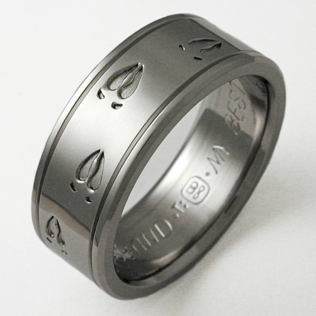 Mens Titanium Wedding Bands Are No Less Appealing Than Gold Intended For Marine Corps Wedding Bands (View 10 of 15)