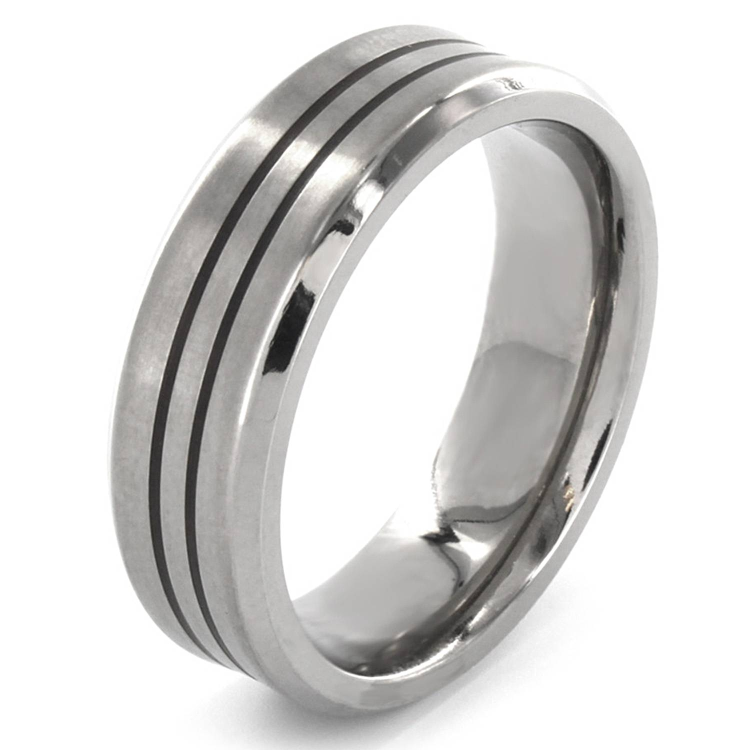 Mens Titanium Wedding Bands Are No Less Appealing Than Gold Pertaining To Men's Titanium Wedding Bands With Diamonds (View 7 of 15)