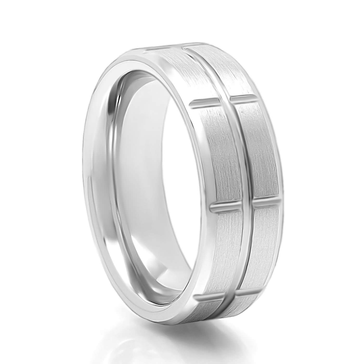 Men's Torque Vitalium Cobalt Chrome Band Within Vitallium Wedding Rings (View 6 of 15)