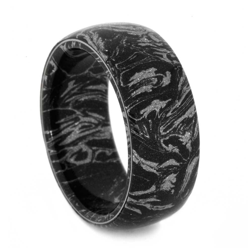 Mens Wedding Band, Black And White Mokume Gane Ring Pertaining To Mokume Mens Wedding Bands (View 7 of 15)