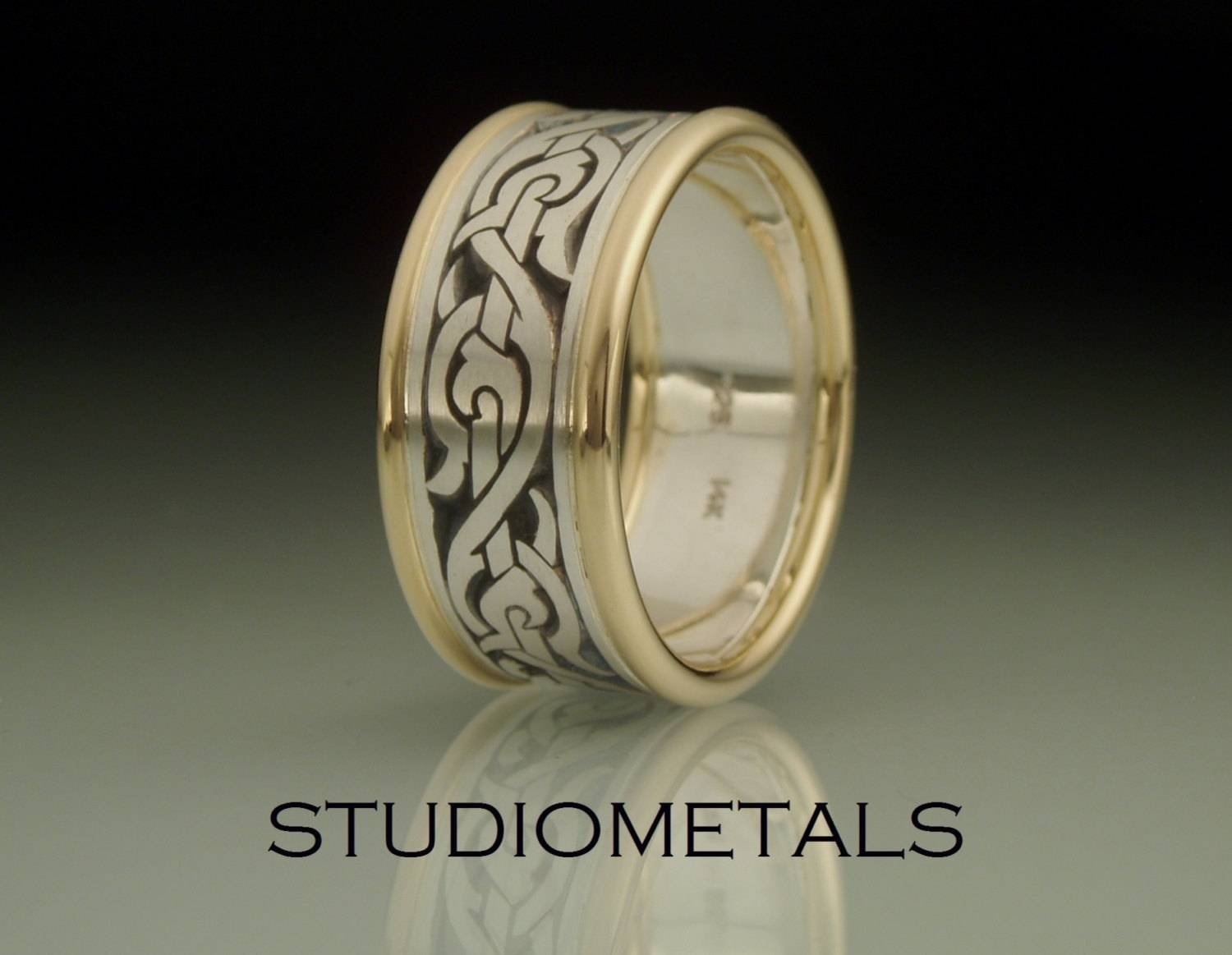 Mens Wedding Band Nordic Ring Viking Ring Mens Ringhand Regarding Viking Wedding Bands (View 9 of 15)
