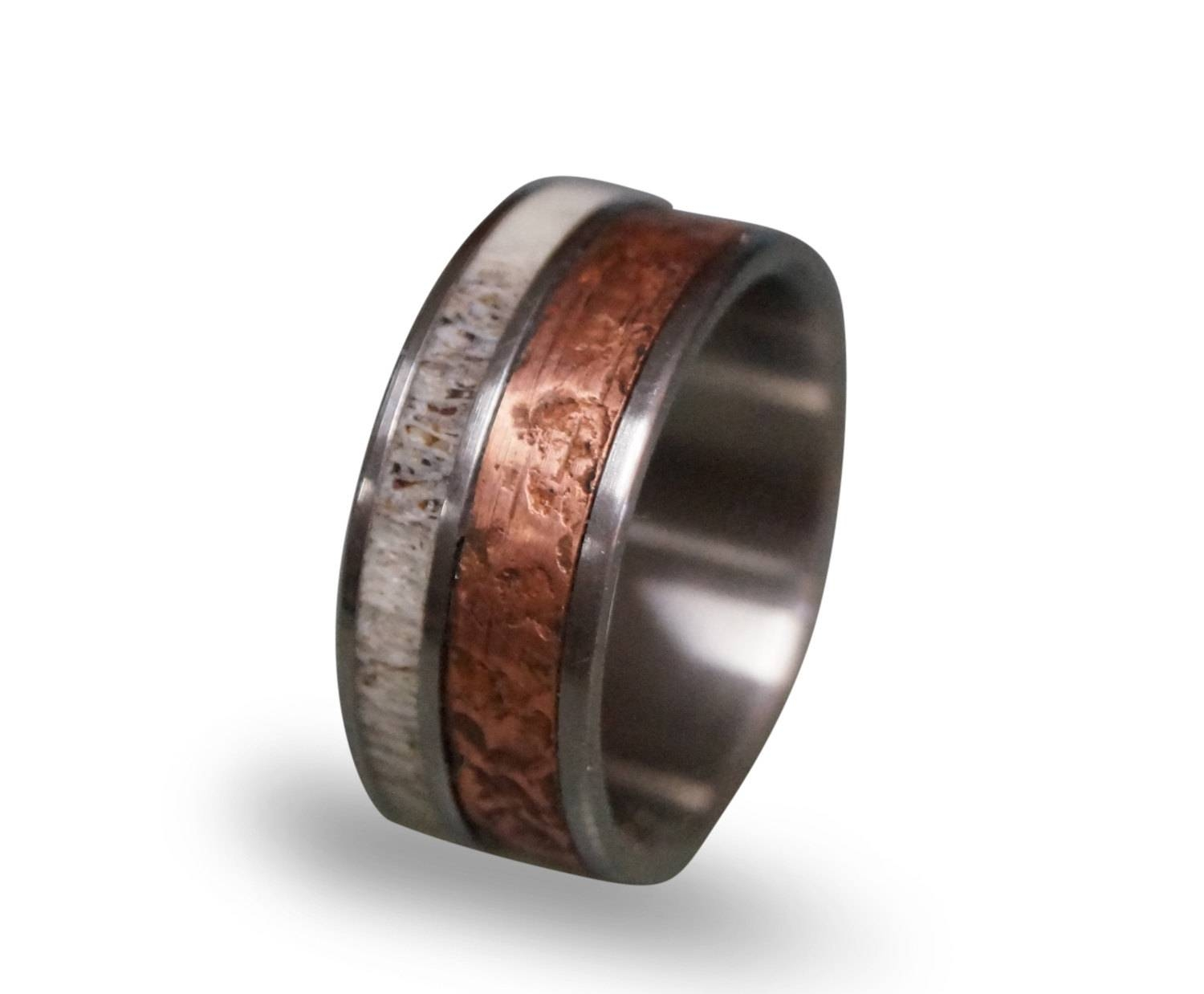 Mens Wedding Band Patina Copper Wedding Band For Men Pertaining To Copper Men's Wedding Bands (View 10 of 15)