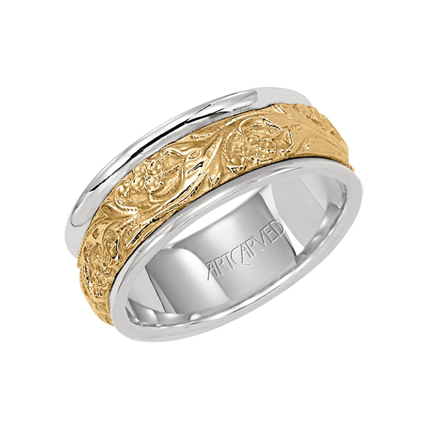 Men's Wedding Bands | Ben Bridge Jeweler Inside Art Carved Wedding Bands (View 12 of 15)