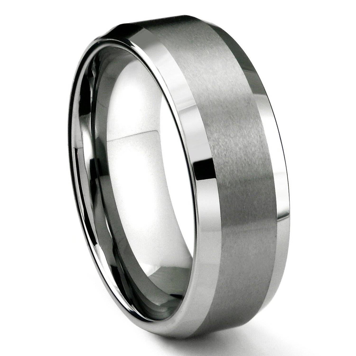Mens Wedding Ring In Matte Black Men's Wedding Bands (Gallery 1 of 15)