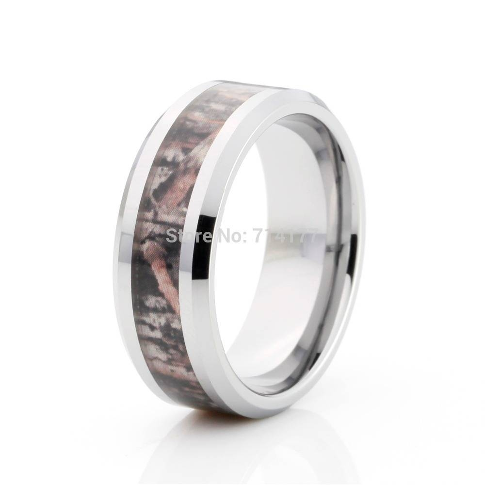 Mens Wedding Rings: Mens Wedding Rings Hunting Within Mens Camo Tungsten Wedding Bands (View 10 of 15)