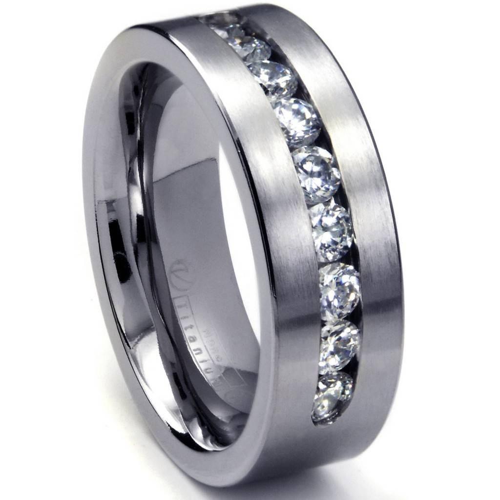Mens White Gold Rings | Wedding, Promise, Diamond, Engagement Intended For White Gold Male Wedding Rings (View 11 of 15)