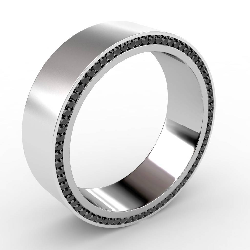 Mens White Gold Wedding Bands With Black Diamonds – Wedding Photo Pertaining To Black And White Gold Men's Wedding Bands (View 11 of 15)