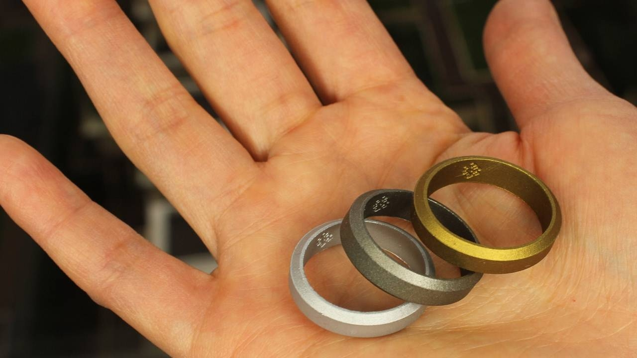 Metallic Silicone Wedding Rings In Silver, Gold, Gunmetal – Youtube Throughout Silicone Wedding Bands (View 13 of 15)