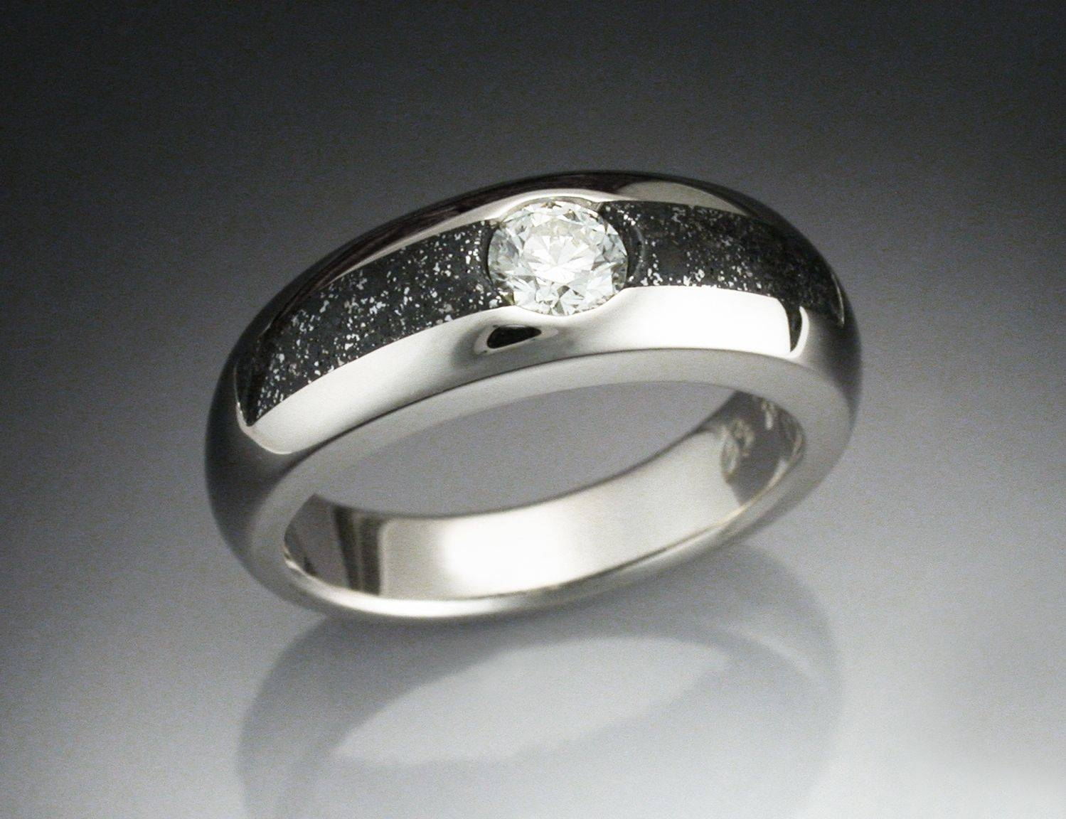 Meteorite Engagement Ring – Jewelry Exhibition For Dinosaur Bone Engagement Rings (View 8 of 15)