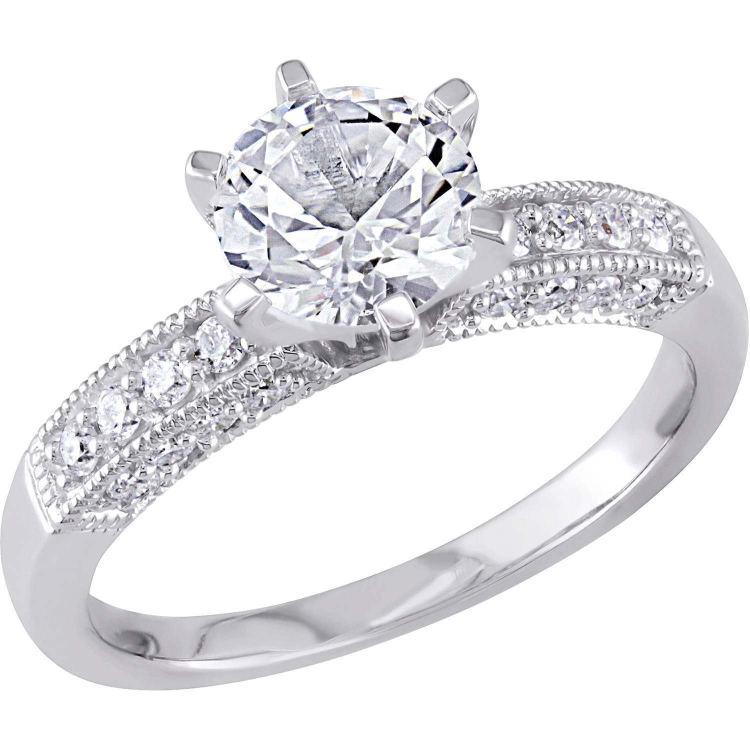 Photo Gallery Of White Gold Engagement Rings Viewing 14