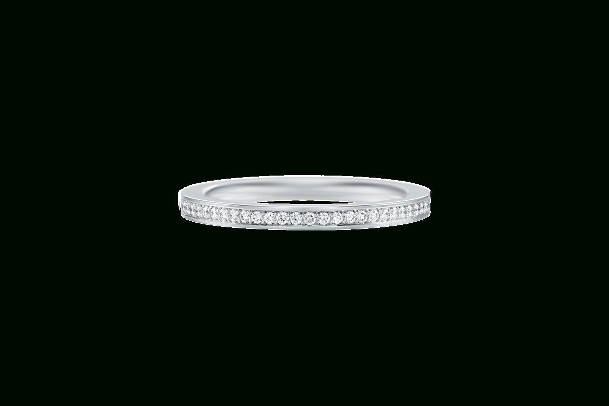 Micropavé Diamond Large Wedding Band | Harry Winston For Harry Winston Men Wedding Bands (View 7 of 15)