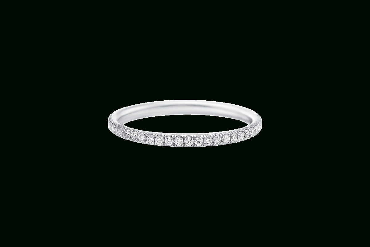 Micropavé Diamond Narrow Wedding Band | Harry Winston Pertaining To Harry Winston Wedding Bands Price (View 6 of 15)