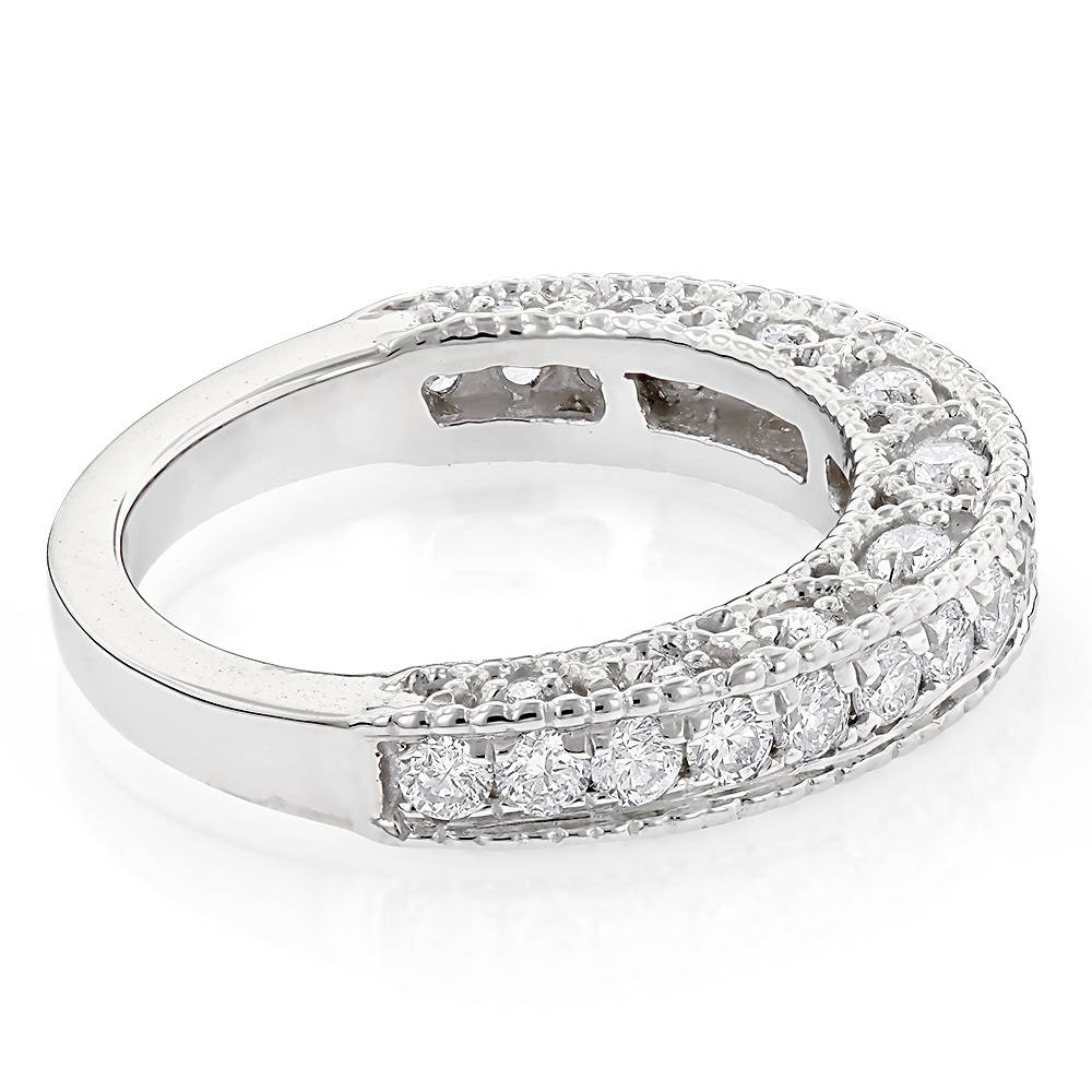 Milgrain & Filigree Designer Diamond Wedding Band For Her (View 7 of 15)