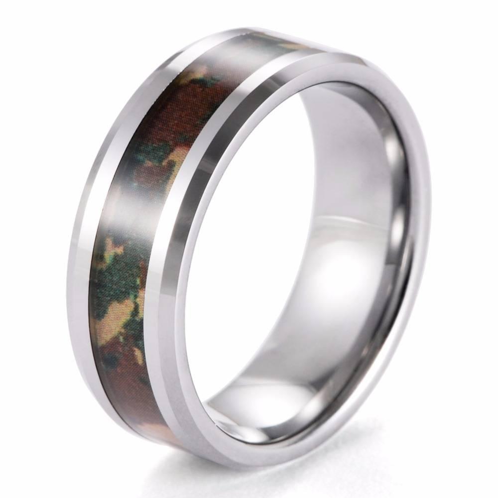 for rain through ring camouflage the singing wedding military rings men tungsten