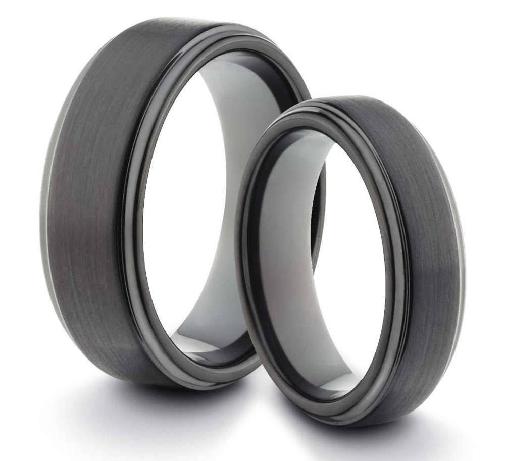 Mm His Her Black Red Fiber Tungsten Carbide Ring Mens Wedding Band Inside Tungsten Engagement Rings For Her (View 13 of 15)