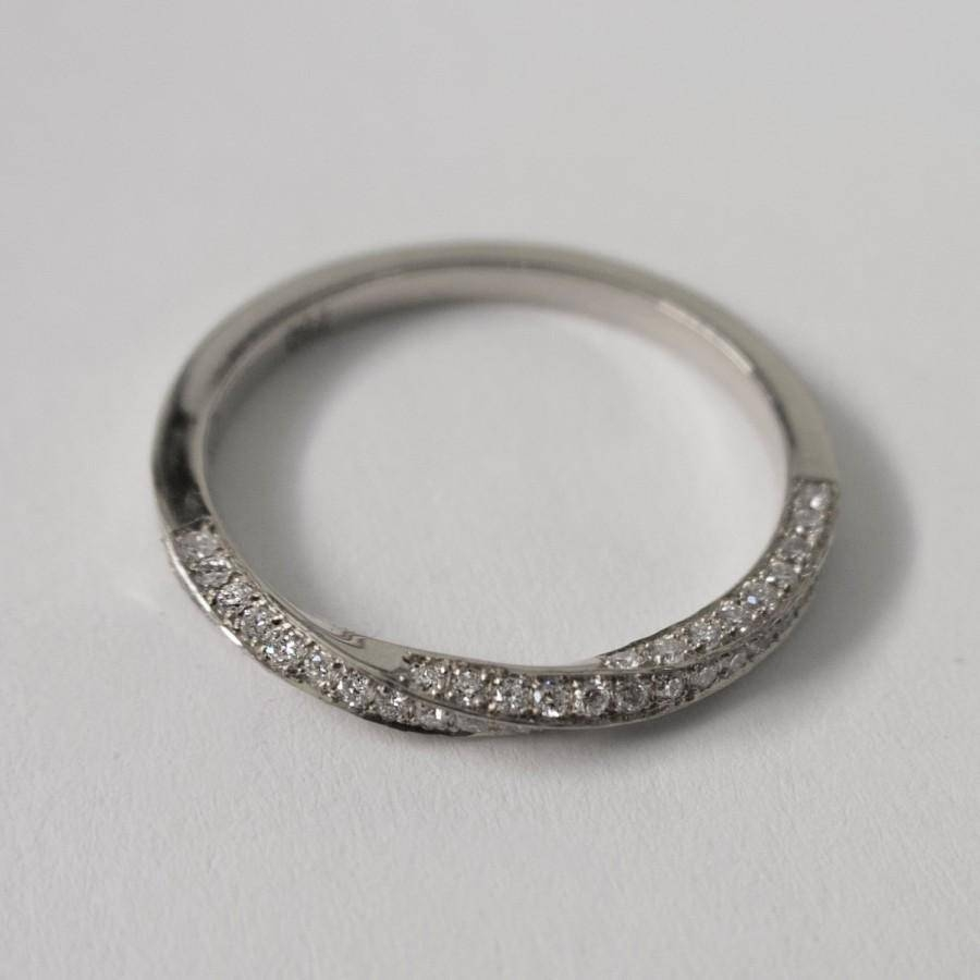 Mobius Diamond Ring – Platinum And Diamonds Ring , Eternity Ring Within Eternity Band Wedding Rings (View 14 of 15)