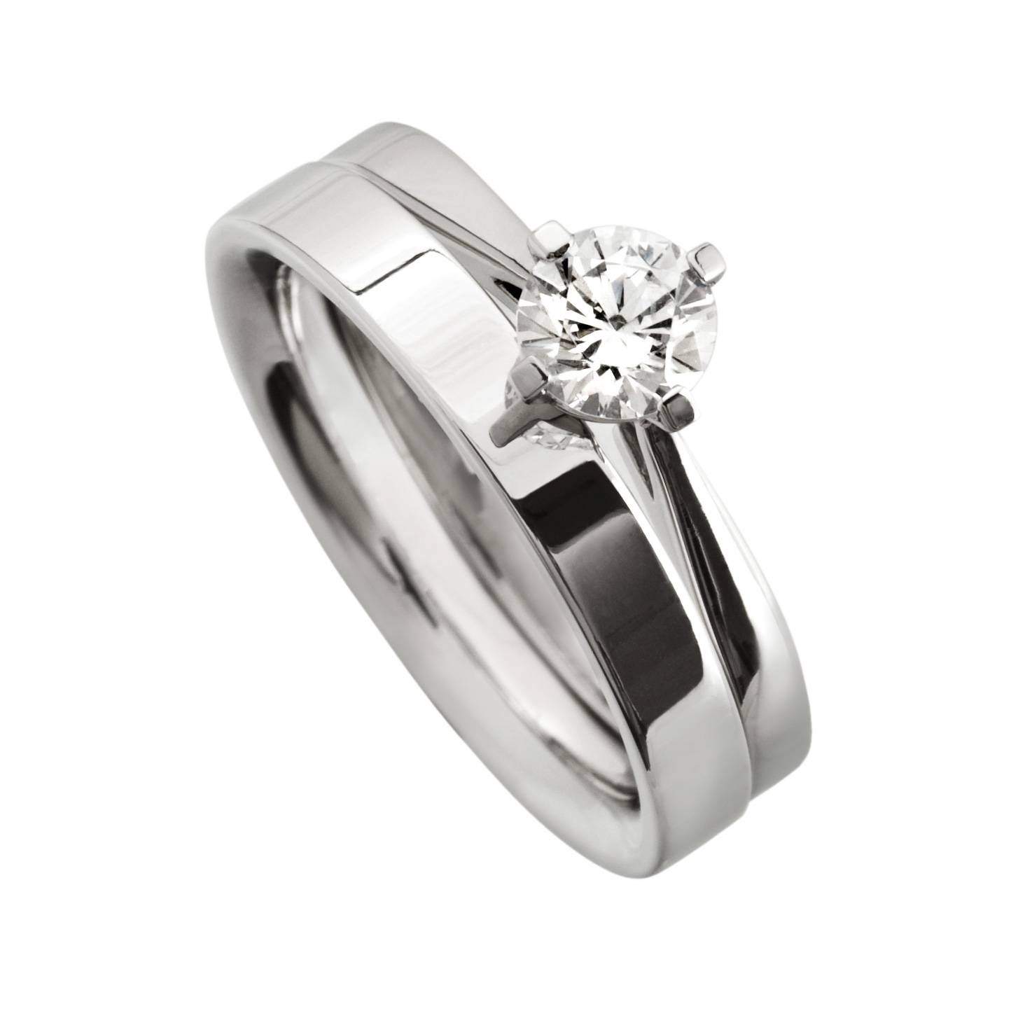 modern flat wedding ring mitchel co for modern design wedding rings gallery - Flat Wedding Rings