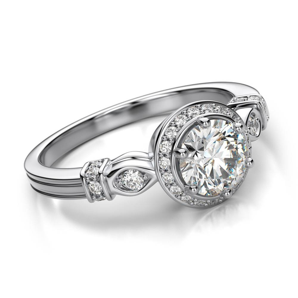 Modern Wedding Rings Newlyweds: Unique Diamond Engagement Rings With Engagement Rings For Female (View 8 of 15)