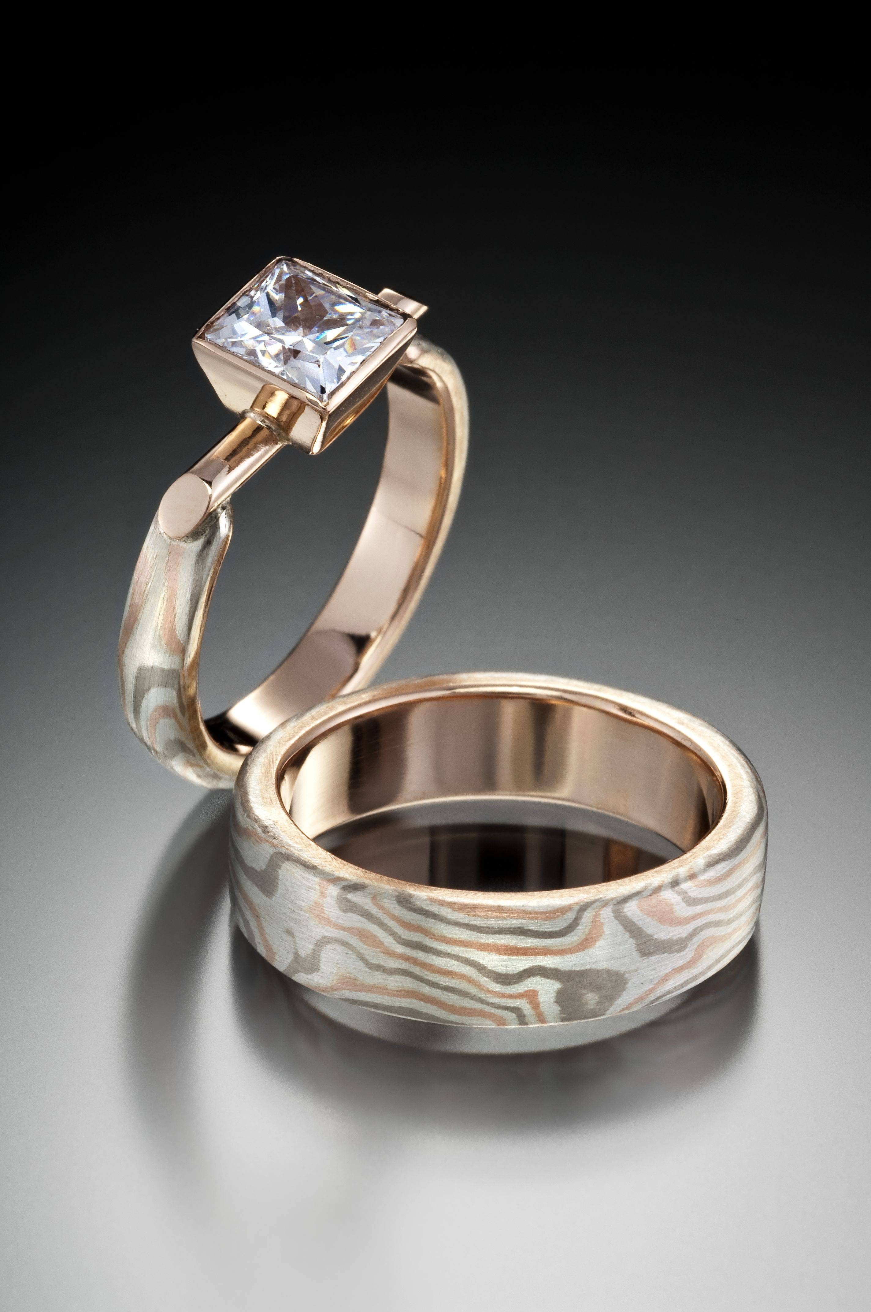 Modern Wedding Rings | Wedding Corners Within Contemporary Wedding Rings (View 3 of 15)