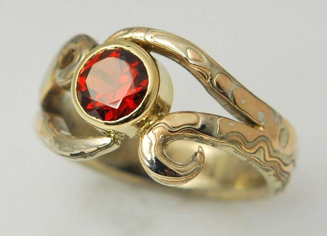 Mokume Gane Rings | Mokume Wedding Bands And Engagement Rings Pertaining To Mokume Wedding Bands (View 14 of 15)