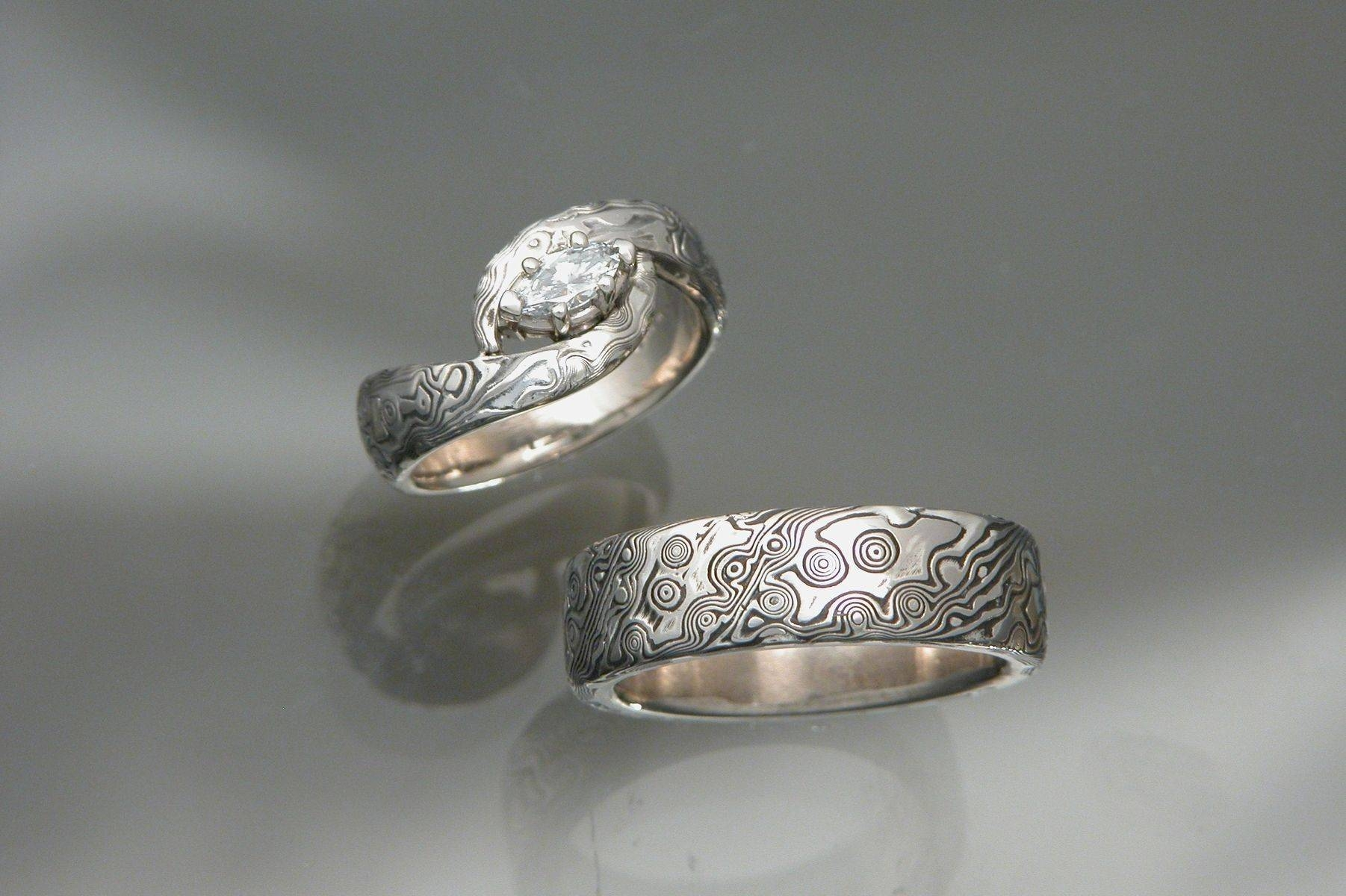 Featured Photo of Mokume Engagement Rings