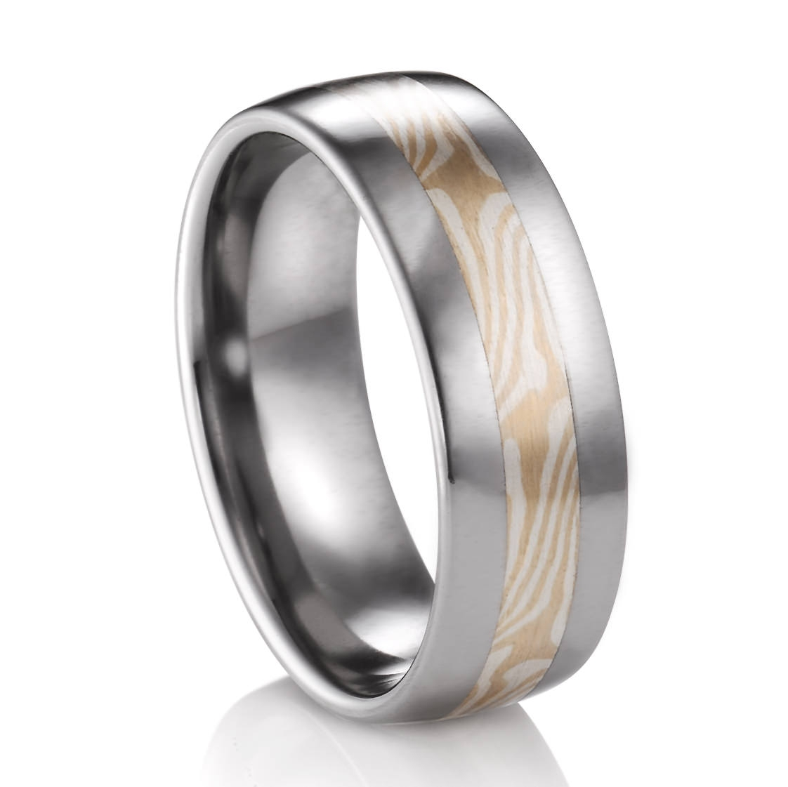 Mokume Gane Titanium Ring – Mens Wedding Bands Throughout Mokume Gane Wedding Bands (View 13 of 15)