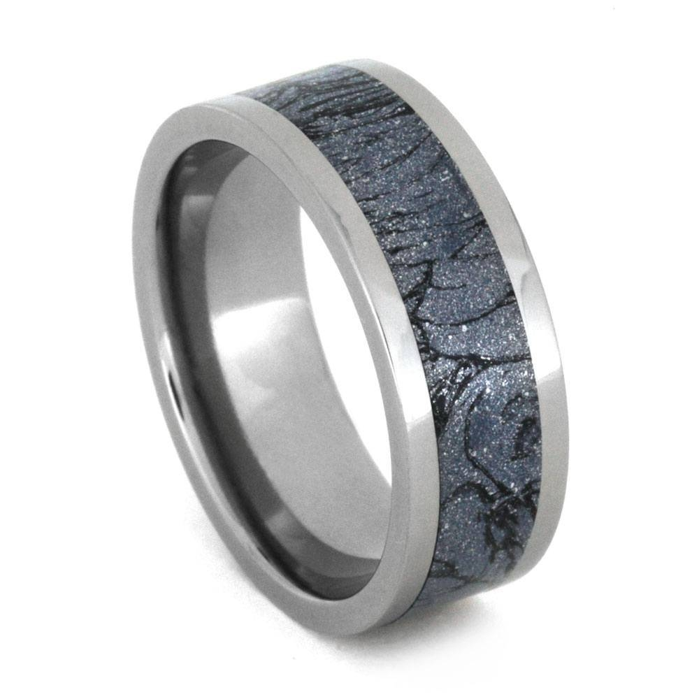 Mokume Gane Wedding Band, Titanium Ring With Mokume Gane Inlay Inside Mokume Gane Wedding Bands (View 14 of 15)