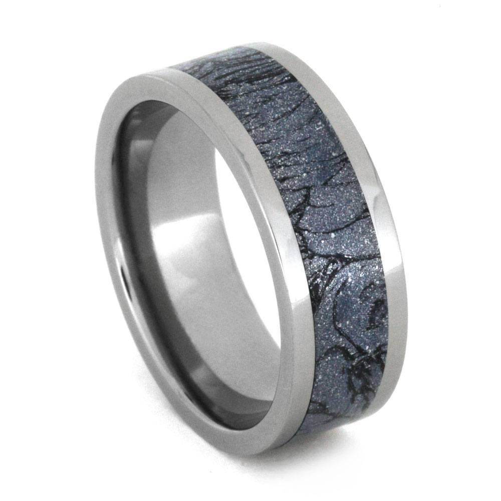 Mokume Gane Wedding Band, Titanium Ring With Mokume Gane Inlay Inside Mokume Gane Wedding Bands (View 7 of 15)