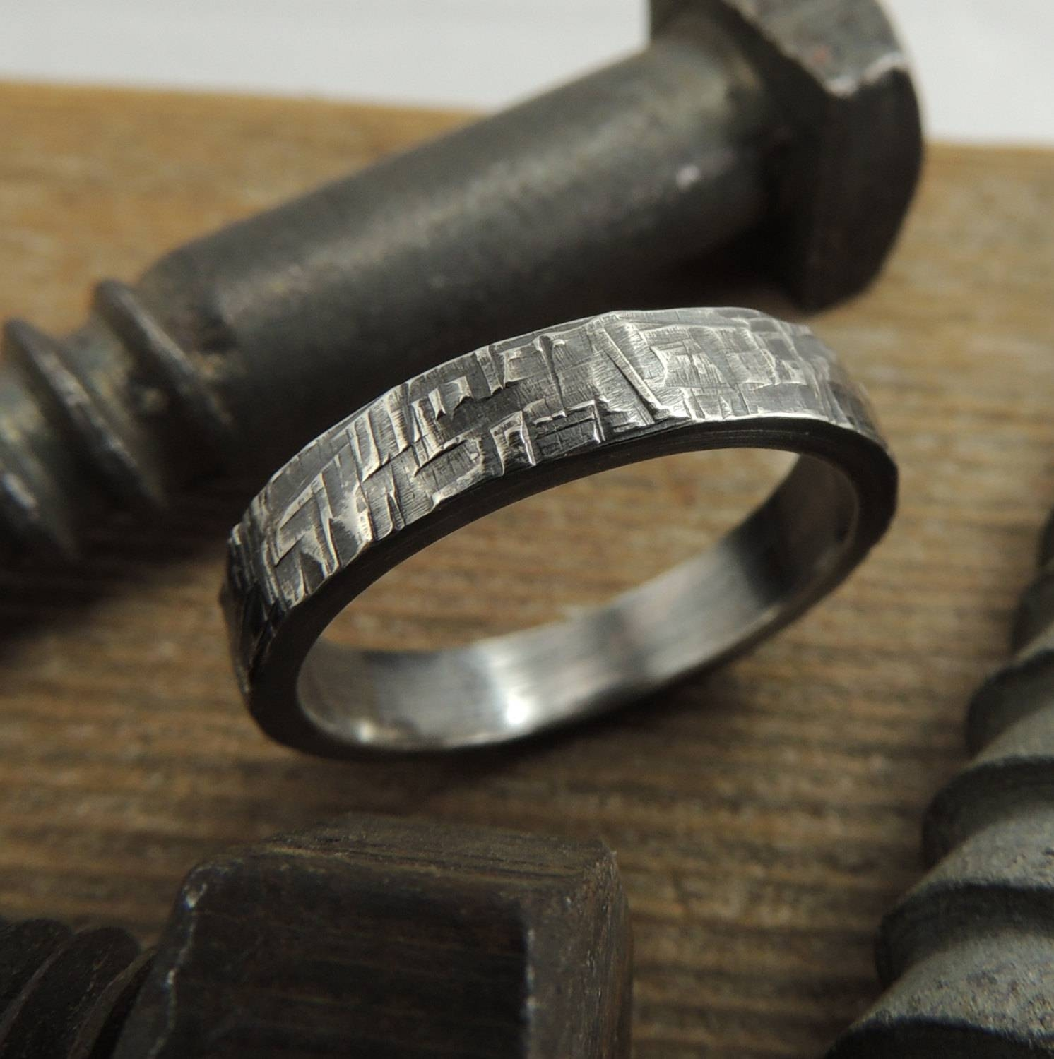 Most Popular Wedding Rings: Mens Wedding Ring Handmade Pertaining To Hipster Wedding Bands (View 10 of 15)