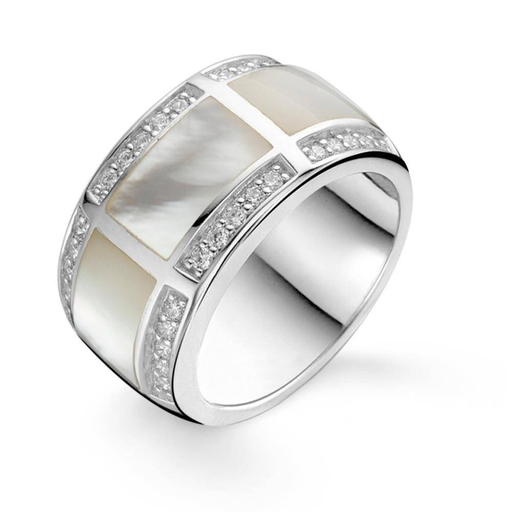 Mother Of Pearl Wedding Band Intended For Mother Of Pearl Wedding Bands (View 7 of 15)